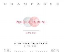 Vincent Charlot Champagne Rubis de la Dune Extra-Brut 2013