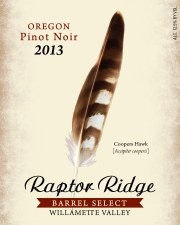 Raptor Ridge Barrel Select Pinot Noir 2013