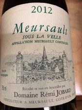 Remi Jobard Meursault Sous la Velle 2012
