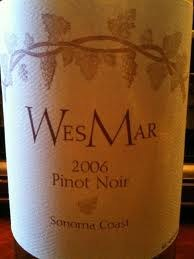 WesMar Pinot Noir Sonoma Coast 2006
