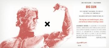 X Winery Big Gun Red 2012
