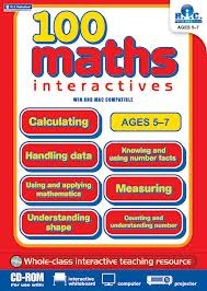100 maths Interactives Unlimited School Site Licence ONLY Lower Classes 1st and 2nd Class Prim Ed