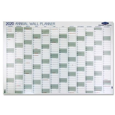 2020 Annual Wall Planner