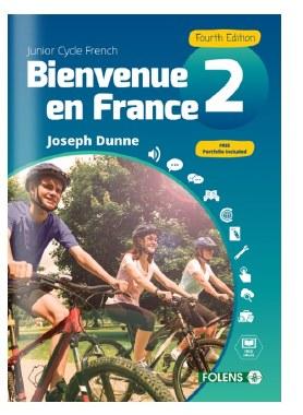 Bienvenue en France 2 Junior Cert Book & Workbook 4th Edition 2018 Folens