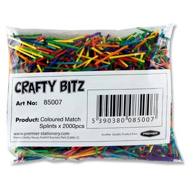 Matchsticks 2000 Coloured Crafty Kidz