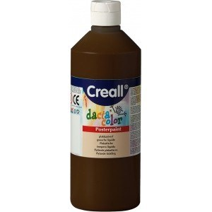 Creall Poster Paint 500ml Brown