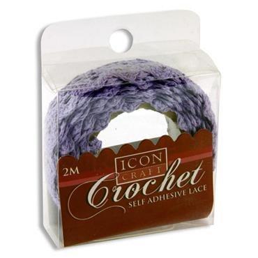 Crochet Lace Purple 2m Self Adhesive Icon