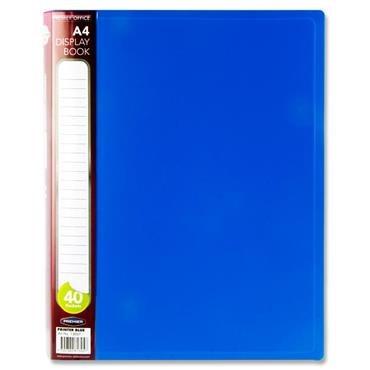 Display Book 40 Pocket Printer Blue