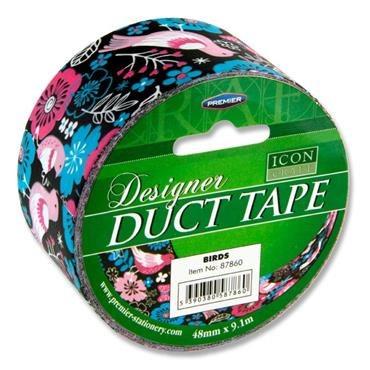 Designer Duct Tape 48mm x 9m Birds Icon
