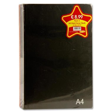 Hardback A4 5 Pack Bold Colours 160 Page