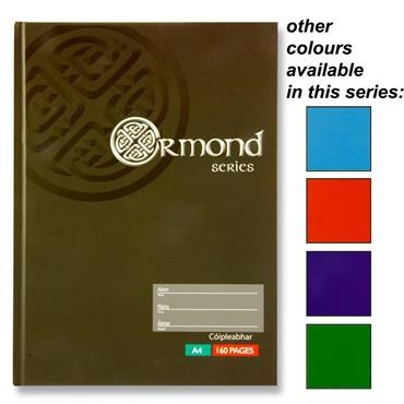 Hardback A4 Celtic Design in a choice of 5 Colours 160 Page Ormond
