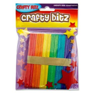Lollipop Sticks 42 Coloured
