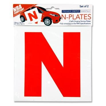 N Novice Learner Stickers 2 pack