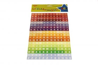 Adhesive Numbers and Letters 864 pieces
