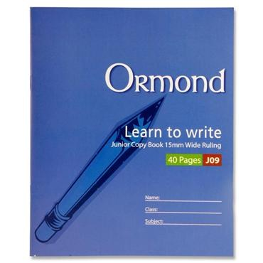 Copy Wide Ruled Ormond J09 15mm