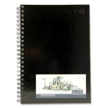 Sketch Pad A4 Hardback Wirebound 135g 50 Sheets Icon