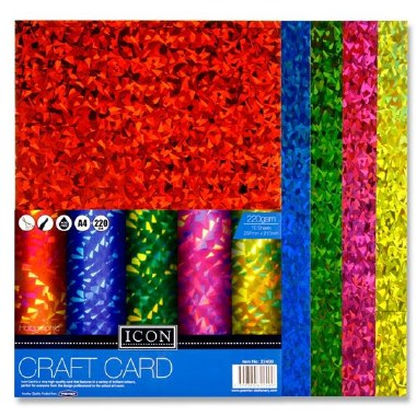 Icon A4 Holographic Card 10 Pack 220gsm