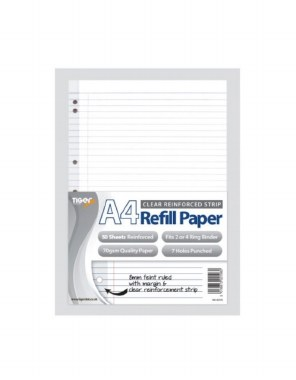A4 Punched Refill Sheets 50 Pack
