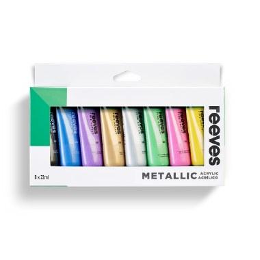 Acrylic Paint Set Metallic Reeves