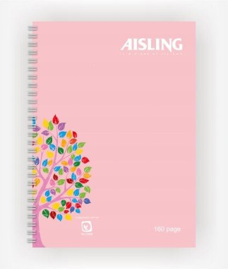 Aisling Twinwire A4 Casebound Spiral Hardback with Pink Pages