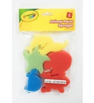 Foam Sponges 6 Animal Shapes Crayola Craft