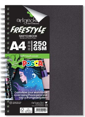 Artgecko Freestyle Sketchbook A4 250g White Pages