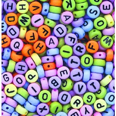 Beads Letters Multi Coloured 400 Pack