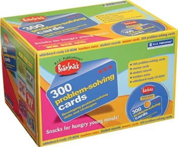 Brainsnack 300 Problem Solving Cards with CD Site Licence ONLY Upper Classes 3rd to 6th Class Prim Ed