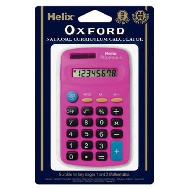 Helix Oxford Basic Calculator Pink