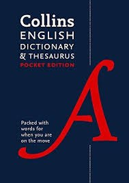 Collins Pocket Dictionary Thesaurus Combined