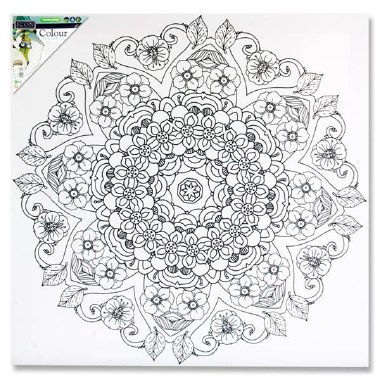 Icon Colour My Canvas Mandala 500x500mm
