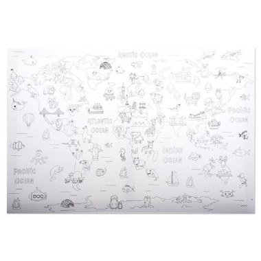 Icon Colour My Canvas World Map 400x600mm