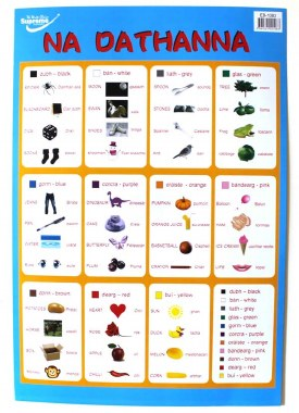 Wall Chart Know Your Colours As Gaelige