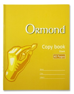Copy Blank Page 40 Page Ormond