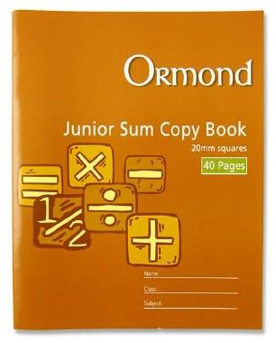 Copy Maths 20mm Square 40 Page Ormond