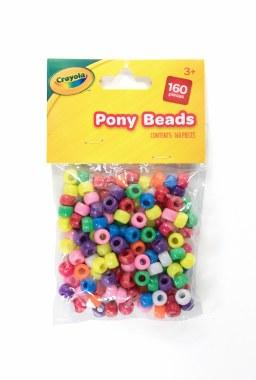 Crayola Craft Pony Beads 100 Pack Assorted