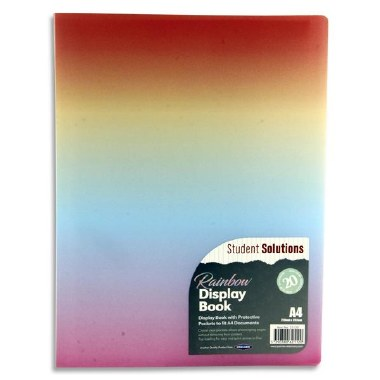 Display Book 20 Pocket Rainbow Student Solutions