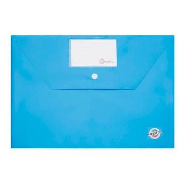 Button Document Wallet A4 Premto Printer Blue