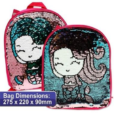 Emotionery Preschool Bag Reversible Sequins Mermaid