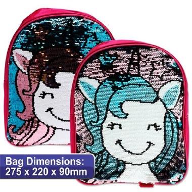 Emotionery Preschool Bag Reversible Sequins Unicorn