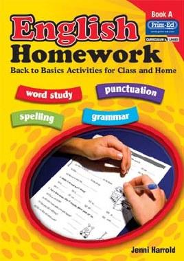 English Homework Book A Back to Basics Senior Infants Prim Ed