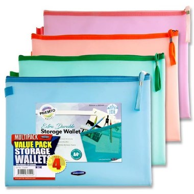 Extra Durable Storage Wallets 4 Pack Ice Pastel A4+
