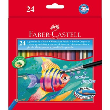 Colouring Pencils Watercolour Box of 24 Faber Castell