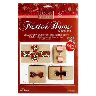 Icon Festive Bows Parcel Kit