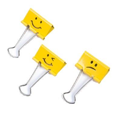 Rapesco Emoji Foldback Clips 19mm