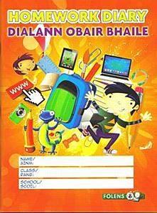 Folens Primary Homework Diary Dialann Obair Bhaile