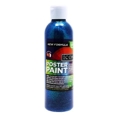 Icon Glitter Poster Paint Blue 300ml