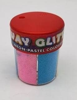 Glitter Shaker 6 Neon/Pastel Colours Perfect Stationery