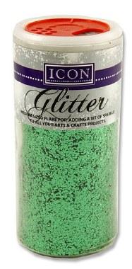 Glitter Tub 110g Medium Flake Green Icon