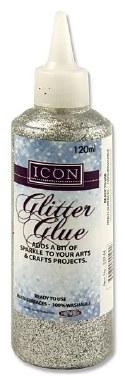 Glitter Glue Silver 120g Icon